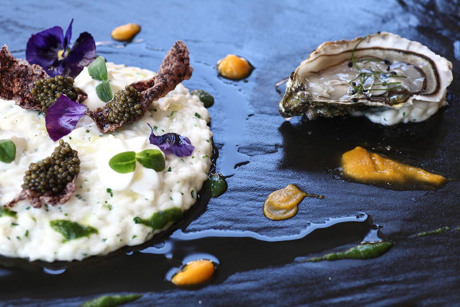 secondo piatto con ostriche